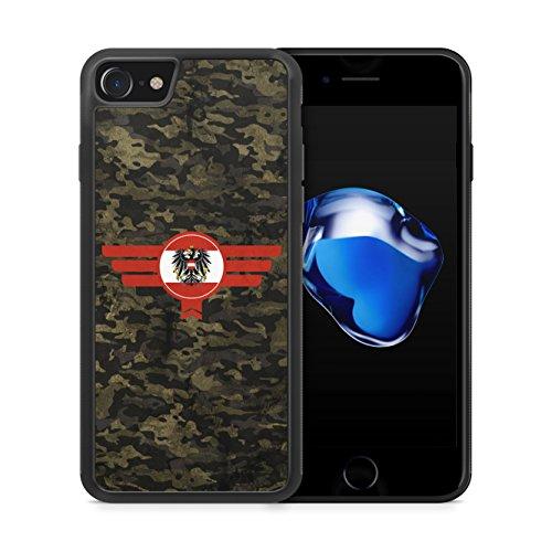 Österreich Austria Camouflage - Hülle für iPhone 7 SILIKON Handyhülle Case Cover Schutzhülle - Bedruckte Flagge Flag Military Militär