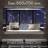 BIG-DEAL_Smart Mirror LED Bathroom Mirror Wall Bathroom Mirror Bathroom Toilet Anti-Fog Mirror with Bluetooth Touch Screen G8035 - ( Color:G8035C-500x700mm )