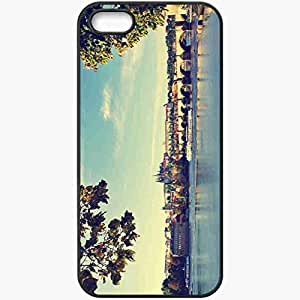 Protective Case Back Cover For iPhone 5 5S Case Prague Bridge Water Black