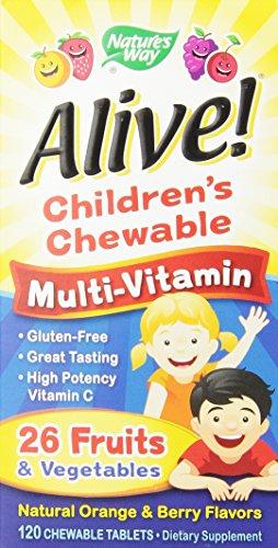, 120 comte de Multi-Vitamin Chewableable Comprimés de façon vivante enfants Nature