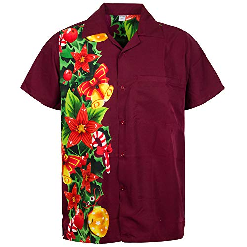 Funky Hawaiian Shirt, ChristmasWedding, red, ()