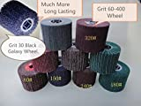 9 Pieces FLEECE (Nonwoven) Wheels For Burnishing Machine Grit 30 (black galaxy) to Grit 400 fits Metabo Roxx Tools and Hardin HB-5800 handheld burnished