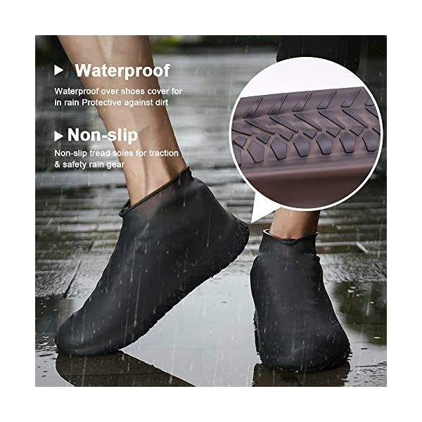 40f6f20b95dce Nirohee Silicone Shoes Covers, Shoe Covers, Rain Boots Reusable Easy to  Carry for Women, Men, Kids.