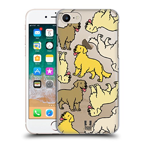 Head Case Designs Golden Retriever Dog Breed Patterns 3 Hard Back Case Compatible for iPhone 7 / iPhone - Golden Retriever Iphone