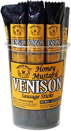 Buffalo Bills Honey Mustard Venison Sausage Sticks (15 gluten free 1oz venison sticks – no MSG) Honey Mustard Sausages