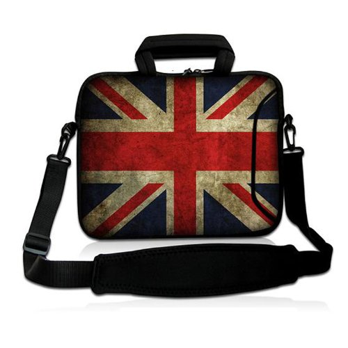 """Union Jack 10"""" Laptop Shoulder Bag Sleeve Carry Case For Samsung Galaxy Tab / iPad air,1,2,3,4,5, 10"""" 10.1"""" 10.2 inch Mini Laptop Netbook Case Tablet, Microsoft Surface RT 10.6"""" Tablet PC,Dell Latitude 2110 10"""" Laptop Intel Atom N470,Acer Aspire One 10"""" Laptop Computer,HP Sony Asus Dell Inspiron Mini,Netbook Android Tablet MID PC,10.1"""" Toshiba Excite 10,10'' Laptop Google Android 4.0 Netbook"""