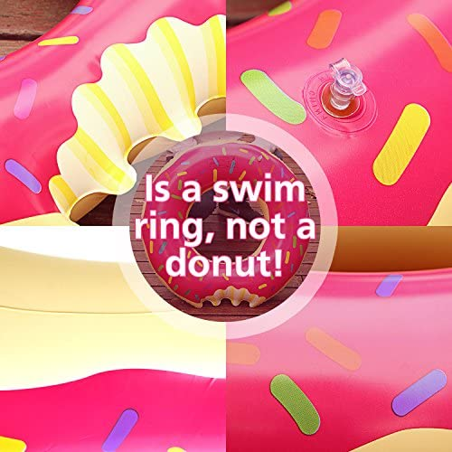 Samione Donut Anillo de natación Inflable, Flotador Gigante ...