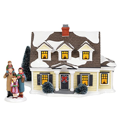 Department56 Original Snow Village Welcoming Christmas Lit Building and Accessory, 7.09