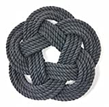 Nautical Sailor Knot Cotton Rope Trivet Gray