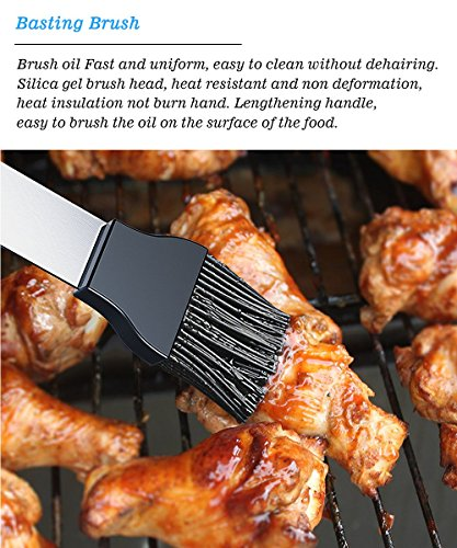 BBQ Grill Tools Set 26 Barbecue Accessories - Stainless Steel Utensils Aluminium Case - Complete Outdoor Grilling Kit