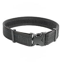 BLACKHAWK! Black Reinforced 2-Inch Web Duty Belt with Loop Inner, Large