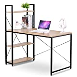 WOLTU Business Desk Top Computer Gaming Station Computer Desk Home Use 4 Tier Bookshelves