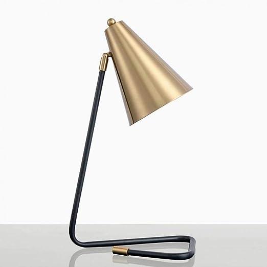 JFHGNJ lámpara de mesa simple moderna lámpara de mesa dorada sala ...