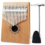 Kalimba Thumb Pianos Nice2you 17 Keys Finger Piano Solid Mahogany Body African Instrument Perfect for Music Lover/Beginners / Children