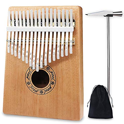 Kalimba Thumb Pianos Nice2you 17 Keys Finger Piano Solid Mahogany Body African Instrument Perfect for Music Lover/Beginners / Children by Nice2you