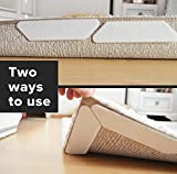 Rug Grippers by Dta Home Store – 8 Pcs Anti Curling Rug Gripper & Non Slip Rug Pads For Your Rug/Ideal for Carpet Wood and All Hard Floors Kitchen Bathroom