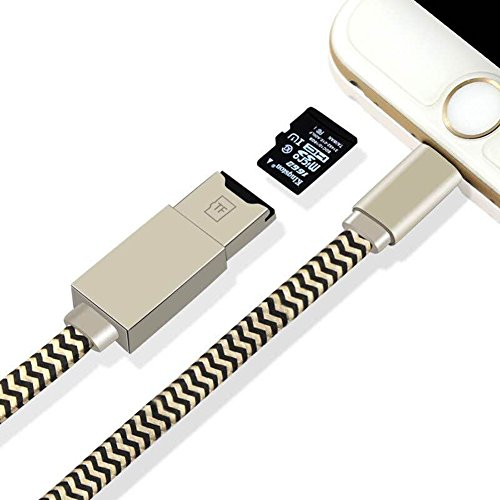 Cable Lightning iReader USB Micro SD Card TF Card Reader Support IOS 11 for iphone X 8/8 Plus 7/7 Plus 6S/6S Plus 6/6 Plus iPod touch 5, iPod nano 7, iPad Mini by LOTUS POWER (Image #1)