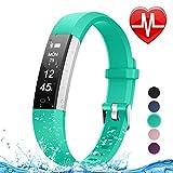 Letsfit Fitness Tracker HR, Heart Rate Monitor Watch, IP67 Waterproof Pedometer Watch, Sleep