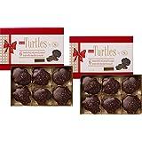 Dark Chocolate Salted Pecan Turtles Holiday Gift Box set of 2