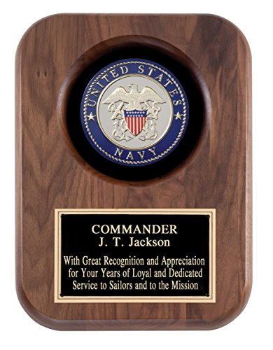 United States Navy Wooden Award, Retirement, Achievement Award, Wooden Plaque, Customized Plaque with US Navy Insignia, Engraving Included,