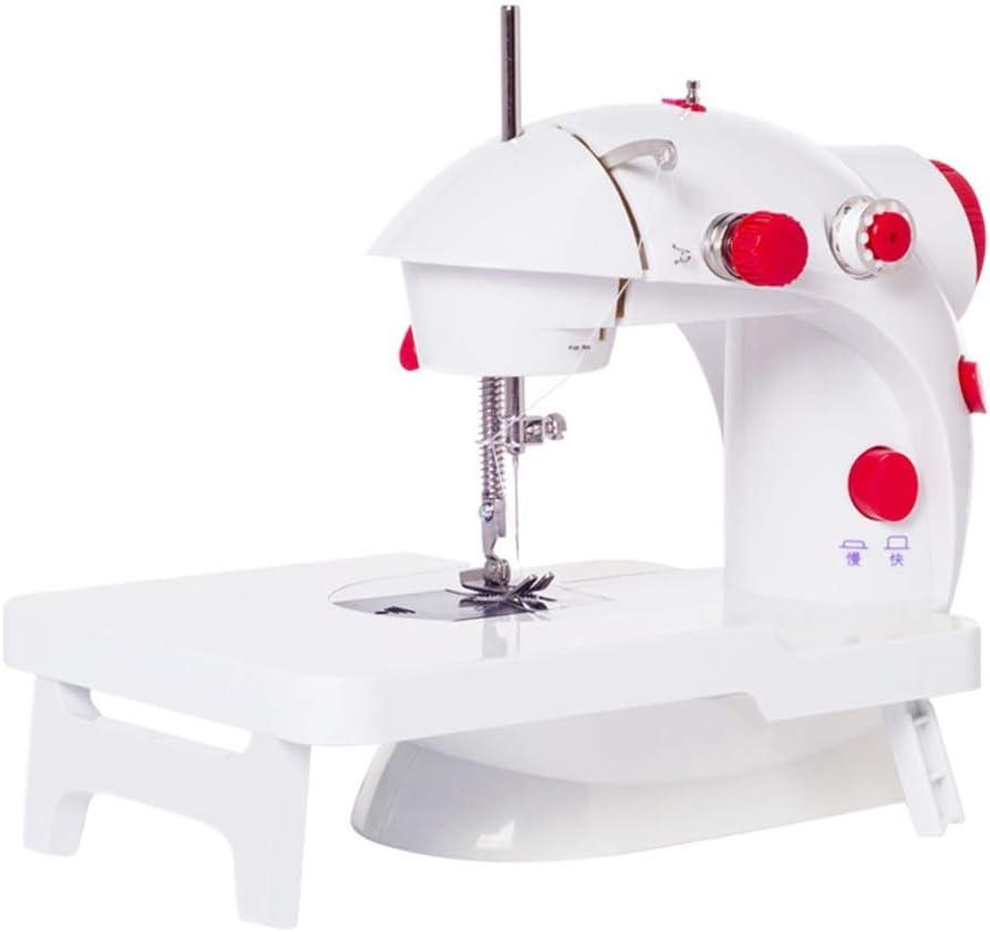 Nologo Hogar Mini máquina de Coser con la Tabla de ampliación, 2 velocidades de Doble Rosca portátil máquina de Coser overlock de Tela Recorrido del hogar de Uso