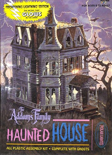 Polar Lights the Addams Family Haunted House Plastic Diorama Kit - House Light Haunted