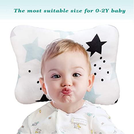 Almohada para bebés, algodón orgánico recién nacido y ...