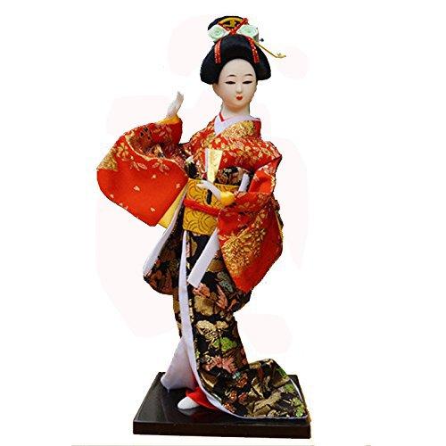Girl Maiko - 12'' /30cm Tall Japanese geisha Kimono doll Kabuki Vintage Maiko Girl's day gift-geisha 28