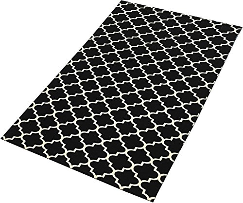 TreeWool Decorative Mat Area Rug Trellis Accent 100% Cotton (27 x 45 Inches, - Accent Mat
