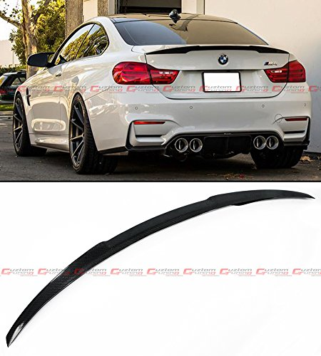 - Cuztom Tuning FOR 2014-2018 BMW F82 M4 V PERFORMANCE STYLE CARBON FIBER TRUNK SPOILER WING BOOT LID (NEW IMPROVED VERSION)
