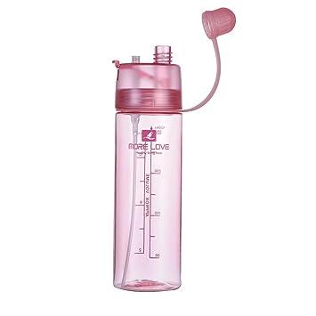 Zyurong 450 ml botella de agua Deportes portátil – Verano Big de calibración de spray de