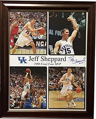 Jeff Sheppard signed Kentucky Wildcats 11x14 Photo Custom Framed #15 (4 images-98 Final Four MVP)- JSA Guaranteed To Pass - PSA/DNA Certified