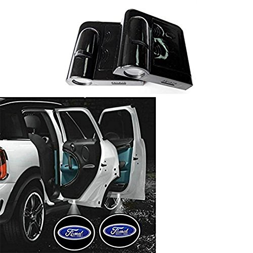 Doors Ford (2Pcs Wireless Universal Cree LED Car Door Welcome Light Laser Emblem Car Door Shadow led Projector Logo for Ford)