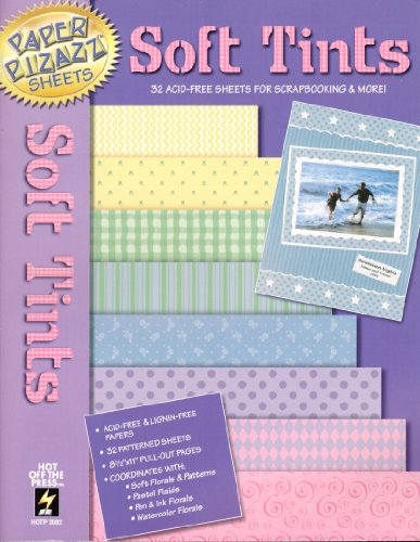 Paper Pizazz Sheets: Soft Tints - 32 Acid-Free Sheets for Scrapbooking & More