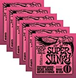 Ernie Ball 2223 Nickel Super Slinky Pink Electric Guitar Strings 6 Pack