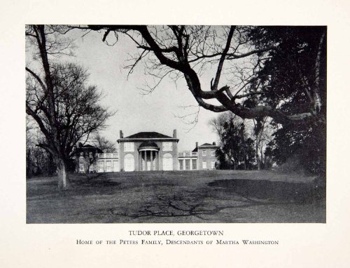 1930 Print Tudor Place Georgetown Washington DC America Mansion House Wealth Art - Original Halftone Print