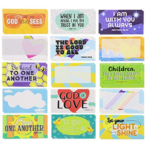 Juvale 60-Pack Kids Motivational Lunch Box Note Cards, 30 Designs, 2 x 3.5 Inches