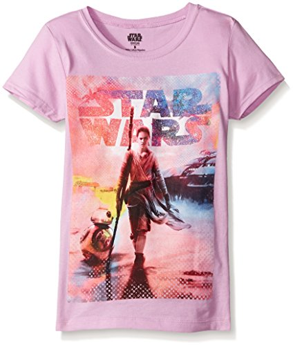 Star Wars Girls T-Shirt, Lilac, Small-7