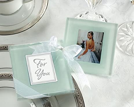Amazon Frosted Photo Frame Glass Coaster Favors Set Of 12