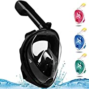 Diving Mask Full Face Snorkel Mask - Swimming Scuba 180 ° Panoramic Viewing with Removable Action Camera Mount