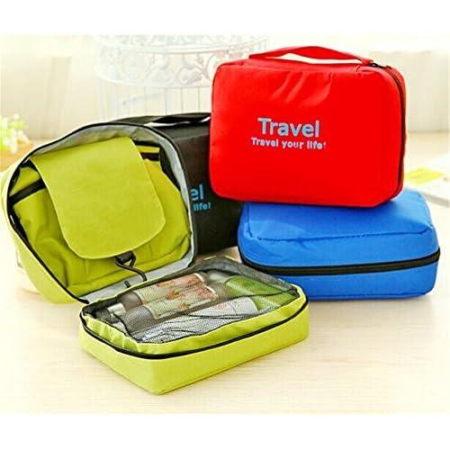 well-wreapped SunKni Portable Toiletry Bag Wash Bag Bathroom Hanging Bag  Travel Bag Zipper Storage ab8b68d11a2df