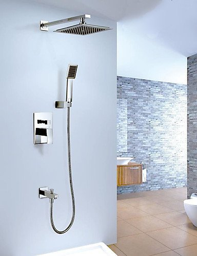 Ling@ Shower Tap 8 '' Bathroom Concealed Rainfall Square Shower Set Faucet Bath Tap Mixer price