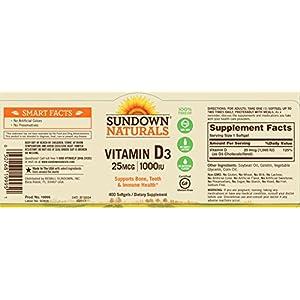 Sundown Naturals Vitamin D3 1000 IU, 400 Softgels