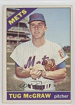 Amazoncom Tug Mcgraw Baseball Card 1966 Topps Base 124