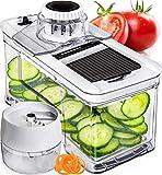 Prep Naturals Adjustable Mandoline Slicer with Spiralizer Vegetable Slicer - Veggie Slicer Mandoline