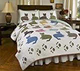 Meow Reversible Quilt Set, Traditional...