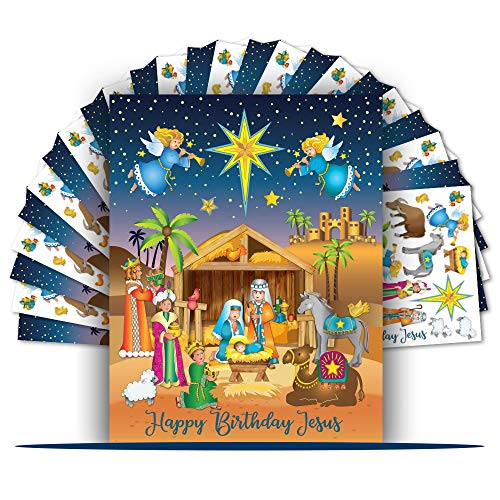 Colonel Pickles Novelties Nativity Stickers – 12 Sticker