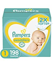 Diapers Newborn/ Size 1 (8-14 Lb), 198 Count - Pampers Swaddlers Disposable Baby Diapers, One Month Supply