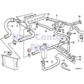 Amazon Com Bmw Genuine Cooling System Water Hoses Engine Block