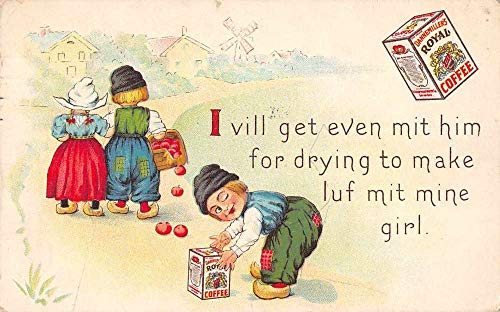 Dannemiller's Royal Coffee Advertising Dutch Children Vintage Postcard J927894